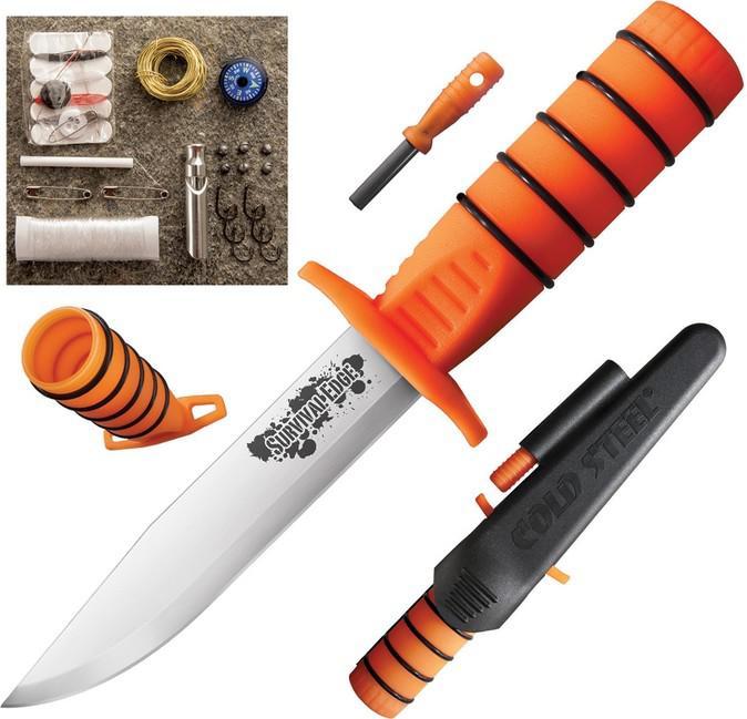 Cold Steel Survival Edge Orange Handle Knife Euro