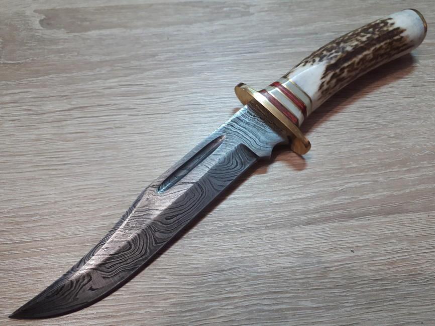 Damascus El Dorado Skinner Knife Euro Knife Com