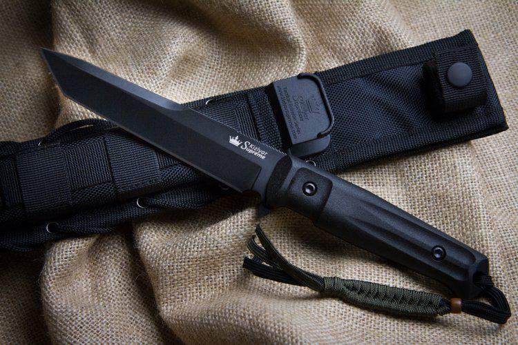 Kizlyar Supreme Aggressor D2 Black Knife Euro Knife Com