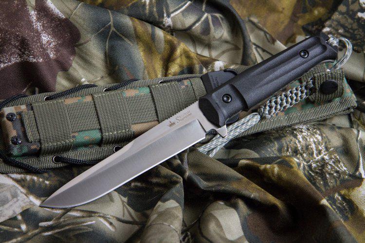 Kizlyar Supreme Alpha D2 Satin Knife Euro Knife Com