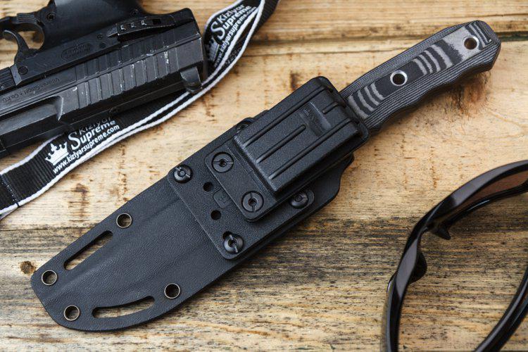 Kizlyar Supreme Enzo Aus8 Black Titanium Knife Euro