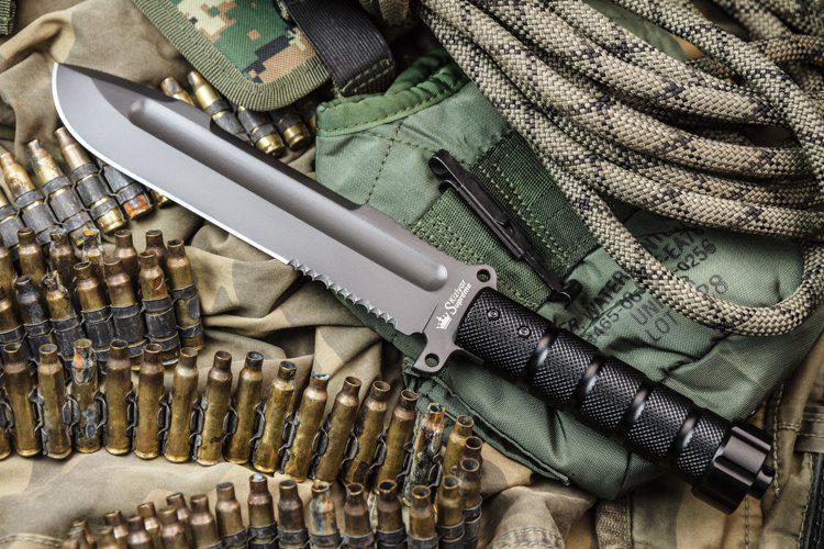 Kizlyar Supreme Survivalist Z Aus8 Gray Titanium Knife