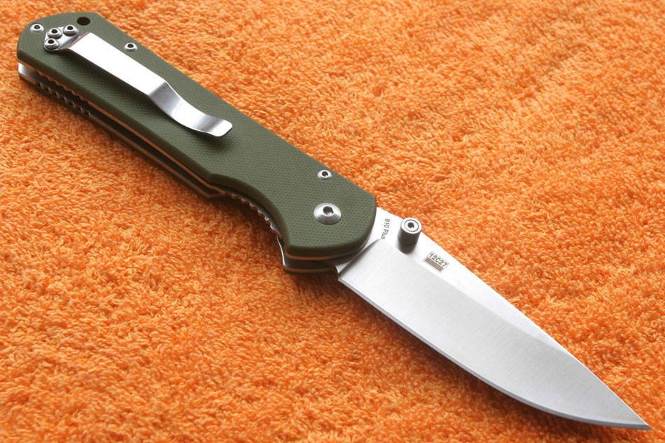 Sanrenmu Mingren 910 Plus Green Satin Knife Euro Knife Com