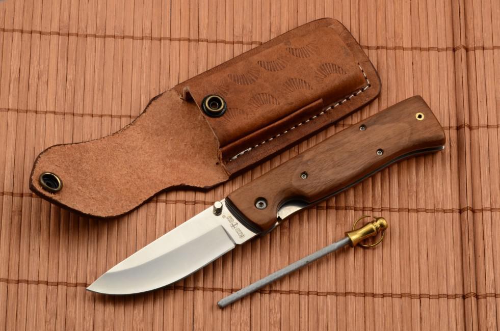 Set Knife 6335lw Leather Case Pocket Sharpener Knife