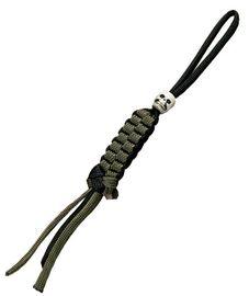 Para Cord Lanyard Black and green