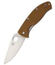 Spyderco Tenacious Brown G10 Plain SC122GPBN
