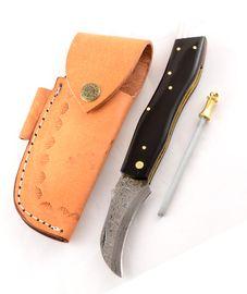 Exclusive Mushroom knife damascus with buffalo horn handmade