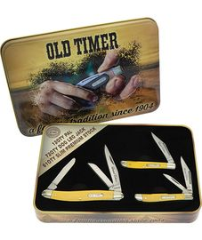 Schrade Old Timer Gift Set Yellow