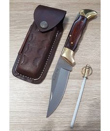 Set Miguel Nieto CAZA 619 leather sheath and Sharpener