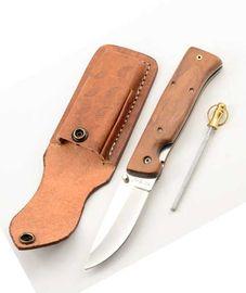 Set knife 6335LW + Leather Case + Pocket sharpener
