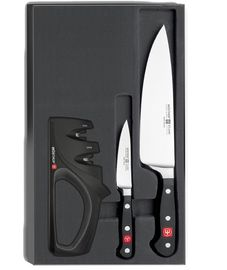 Wüsthof CLASSIC Knife set 2 pcs + Sharpener