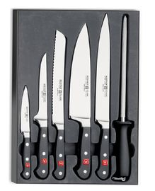 Wüsthof CLASSIC Knife set 5 pcs + Sharpener